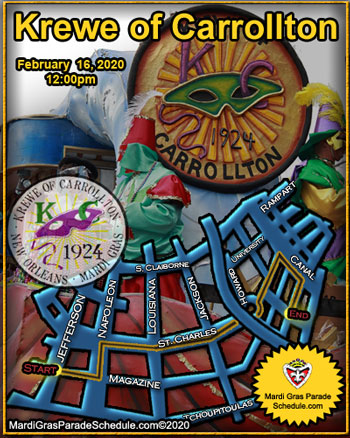 Mardi Gras Parade Schedule 2014 New Orleans Routes Times