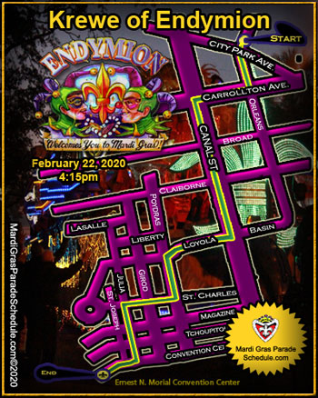 KREWE OF ENDYMION ROUTE