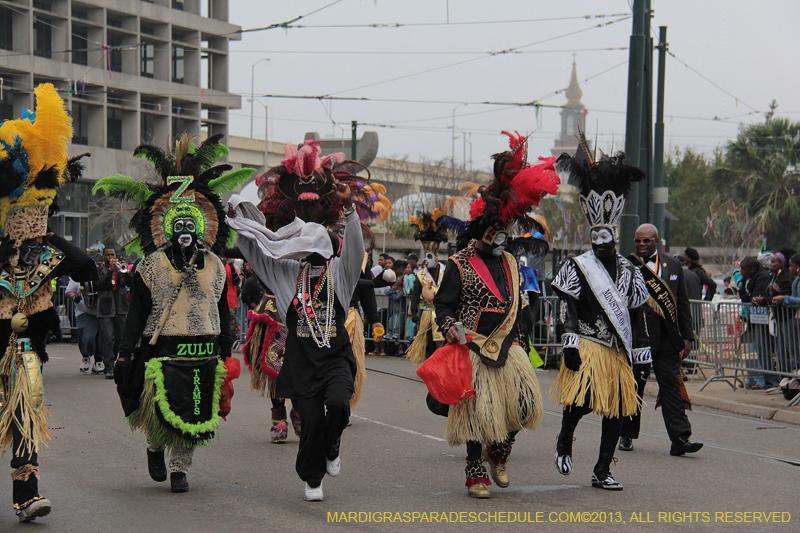 Zulu Social Aid & Pleasure Club New Orleans Mardi Gras Parade ...