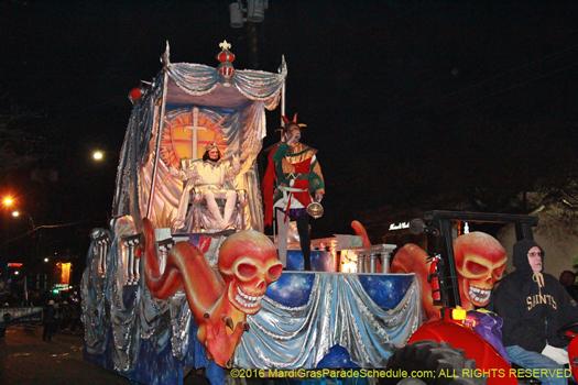 Knights of Chaos, Mardi gras parade - photo by Jules Richard