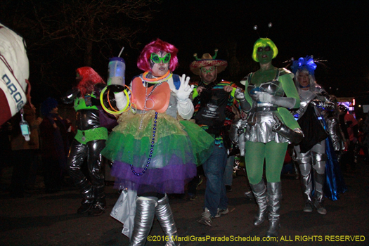 Krewe du Vieux is known for their lewd satirical parades - photo by Jules Richard