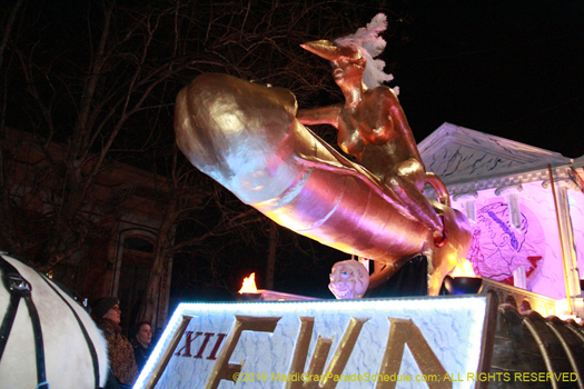 Cock Rocket in Krewe du Vieux - phot by Jules Richard