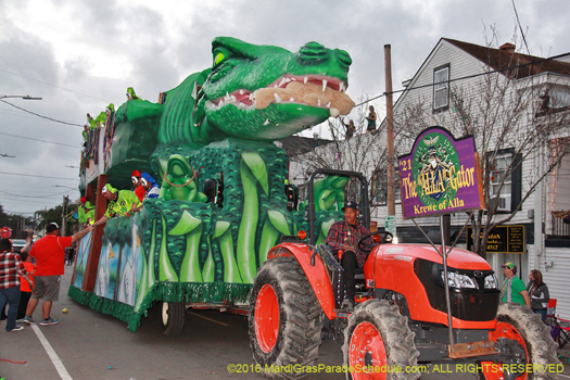 Allagator float in Krewe of Alla - photo by Jules Richard