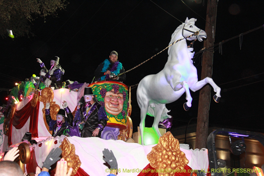 Float in the Krewe of Bacchus, Mardi Gras New Orleans - photo by Jules Richard