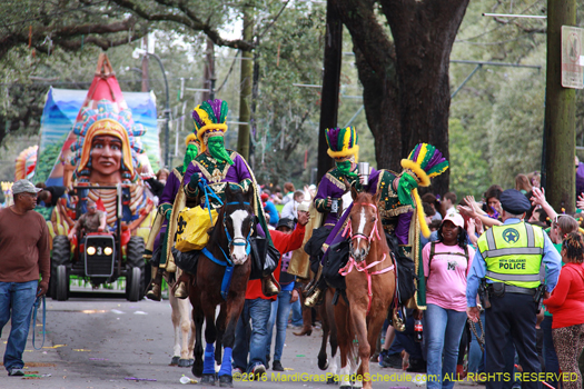 Krewe of Choctaw, 2016 - photo by Jules Richard