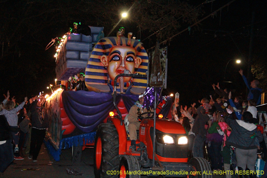Is that king tut in the krewe of cleopatra parade? - photo by Jules Richard