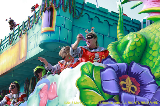 Formerly on the westbank the krewe of King Arthur now rolls in New Orleans - photo by Jules Richard
