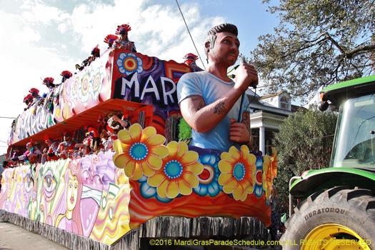 New Orleans mardi gras Krewe of King Arthur - photo by Jules Richard