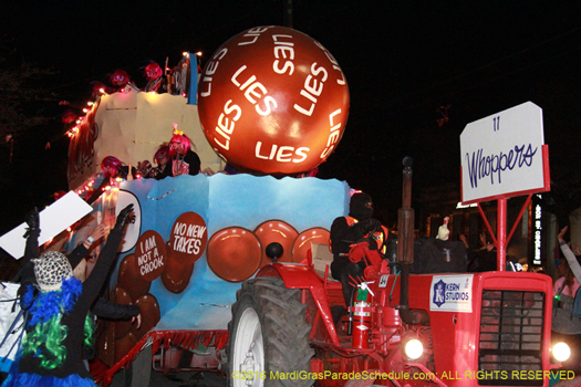 A nights of satire and good times at the Krewe of Muses parade - photo by Jules Richard