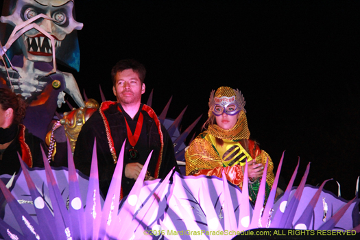 Harry Connick Jr in Krewe of Orpheus, Mardi Gras parade he founded - photo by Jules Richard