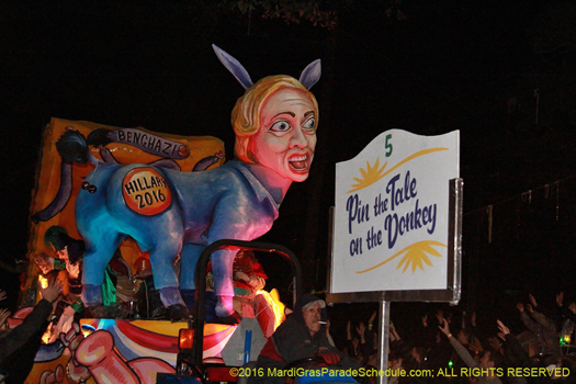 Hillary Clinton as a democratic jackass - photo by Jules Richard