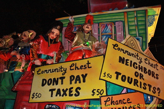 It's a monopoly, Mardi Gras, New Orleans - photo by Jules Richard