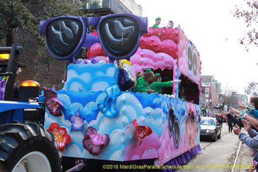 The Krewe of Iris womens parade rolls!