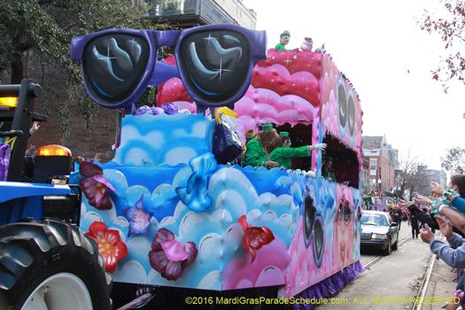The Krewe of Iris womens parade rolls!