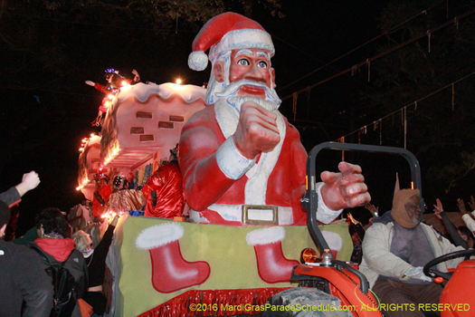That is one Mean Ass Santa at Mardi Gras in New Orleans - photo by Jules Richard