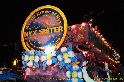 Fortune smiles pn the Mystic Krewe of Nyx - photo by Jules Richard