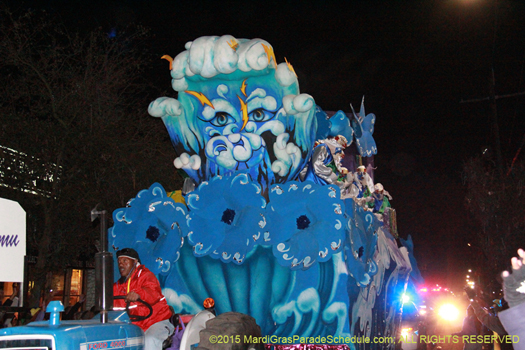 Blaine Kern and Henri Schindler designer float in Knights of Babylon parade, Mardi Gras, New Orleans - phot by Jules Richard