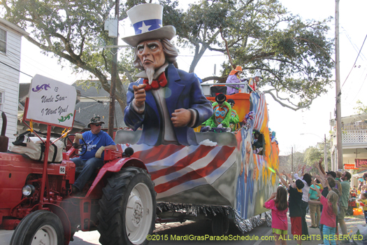Uncle Sam float - photo by Jules Richard