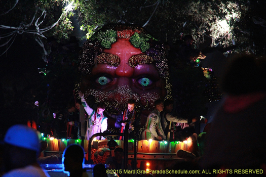 Here comes the Krewe of Bacchus, 2015 - photo by Jules Richard