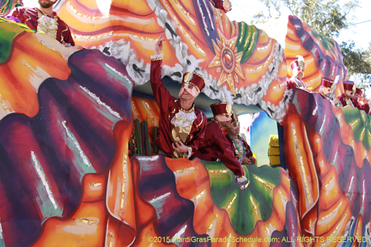 Uptown parade, the Krewe of Carrollton - photo by Jules Richard