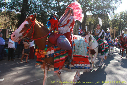 Mounted Indian in the Krewe of Choctaw - photo by Jules Richard