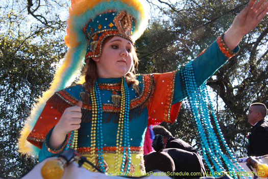 Maid in the Krewe of Choctaw - photo by Jules Richard