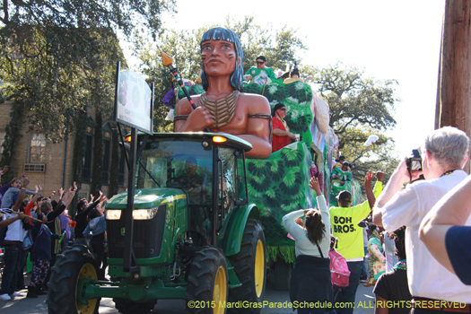 Unique Mardi Gras parade - photo by Jules Richard