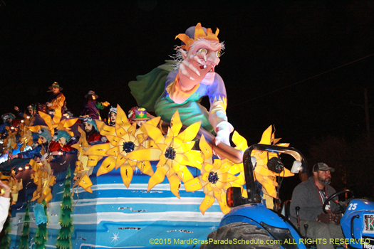 Float in the Krewe of Endymion - photo by Jules Richard
