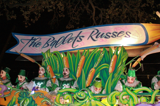 Krewe of Hermes Title Float - photo by Jules Richard