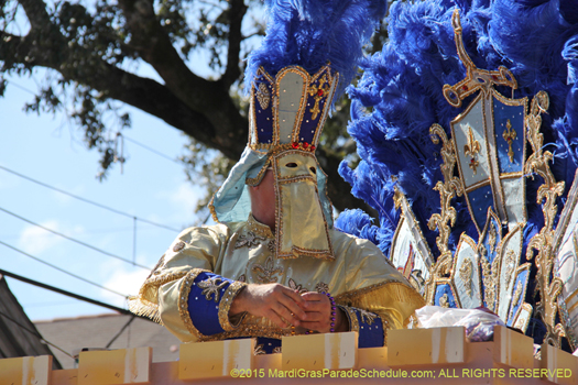 Now that is how the Krewe of King Arthur rolls - photo by Jules Richard