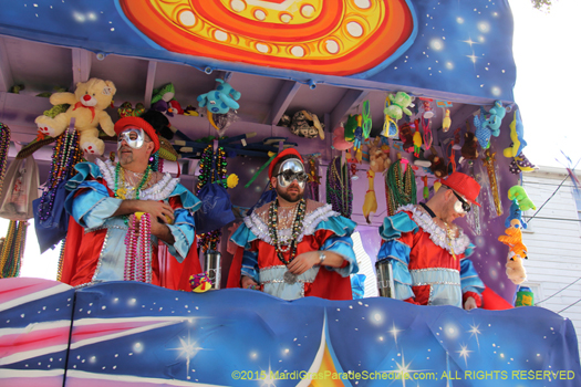 Krewe of King Arthur Mardi Gras parade in New Orleans - photo by Jules Richard