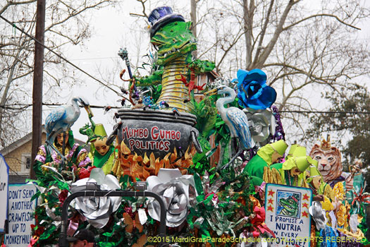 Pour La Joie de Vivre! The Krewe of Mid City - photograph by Jules Richard