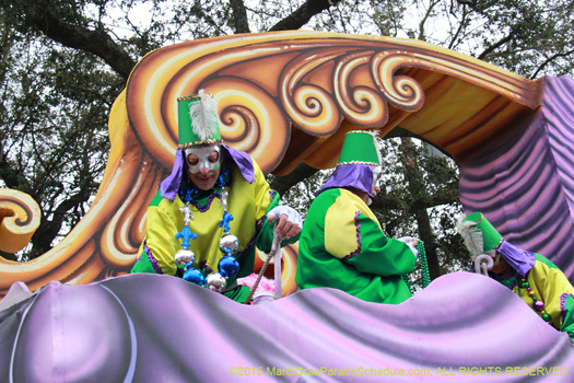 Mardi Gras float in New Orleans - photo by Jules Richard
