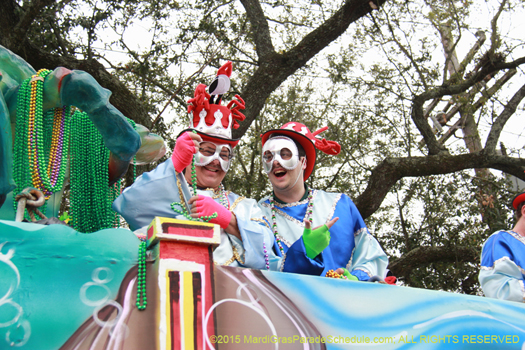 New Orleans Mardi Gras Parade photo, Krewe of Okeanos 2015 - photograph by Jules Richard