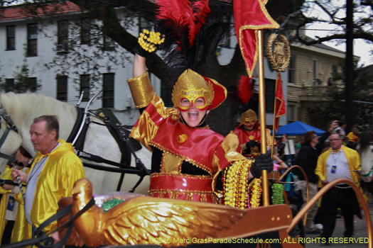 Rider in Krewe of Orpheus - photo by Jules Richard