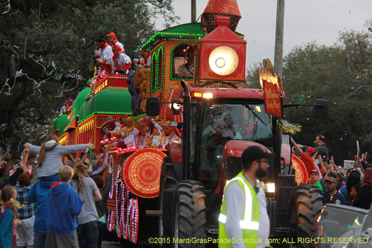 The Smokey Mary train in the Krewe of Orpheus - photo by Jules Richard