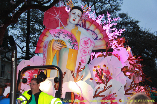 Great float in Krewe of Orpheus, you should see the picture I took right before, stunning - photo by Jules Richard