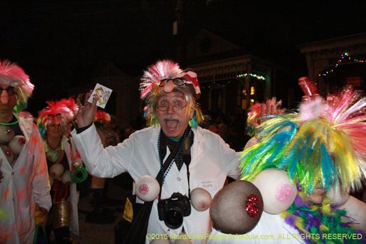 Masker in Krewe du Vieux parade 2015 - photo by Jules Richard