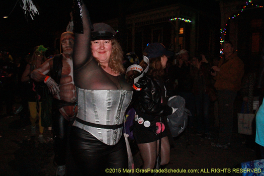 Reveler in the Krewe du Vieux parade circa 2015 - photo by Jules Richard