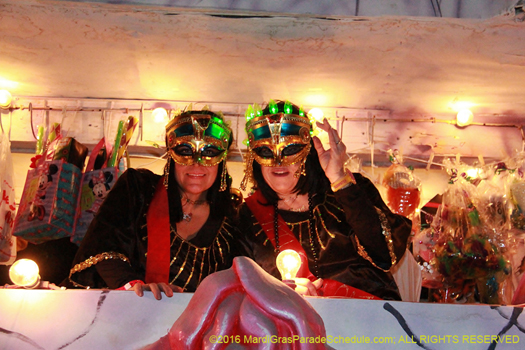 Masked riders in the Krewe of Cleopatra - photo by Jules Richard