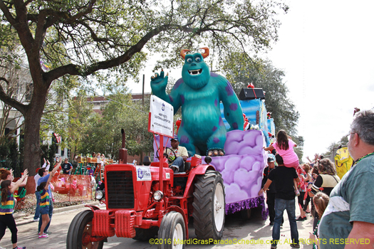 Mosters Inc makes appearence at Mardi Gras New Orleans - photo by Jules Richard
