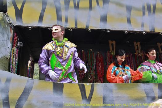 2016 New Orleans Blaine Kern Mardi Gras float - photo by Jules Richard
