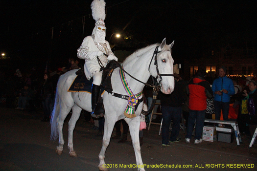 Captain of the Krewe of Hermes - photo by Jules Richard