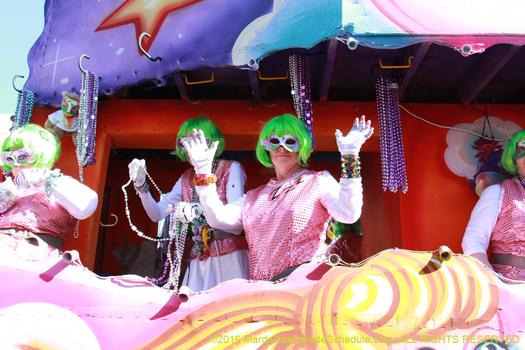 It the Krewe of Iris in New Orleans Mardi Gras - photo by Jules Richard