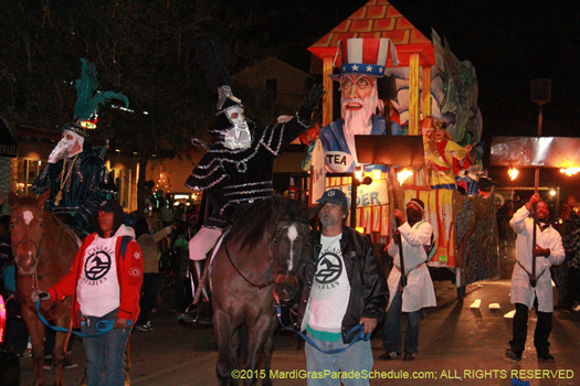 No this is Mardi Gras New Orleans, Knights of Chaos - photo by Jules Richard