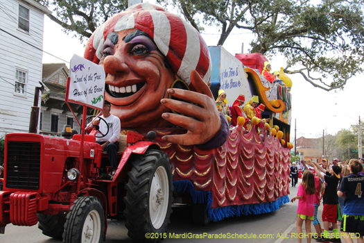 New Orleans Mardi Gras parade, Krewe of Alla 2016 - photo by Jules Richard