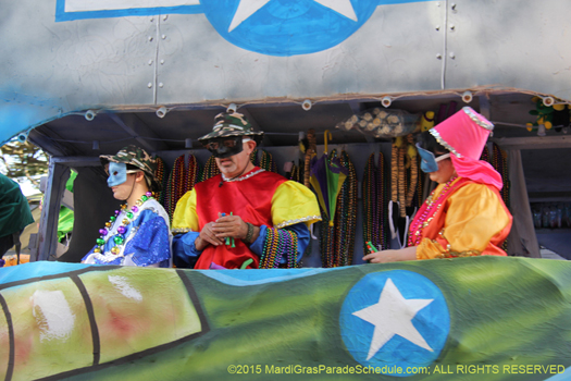 New Orleans Mardi Gras parade, Krewe of Alla 2015 - photo by Jules Richard