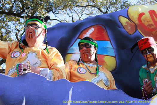 riders in the Krewe of Choctaw - photo by Jules Richard