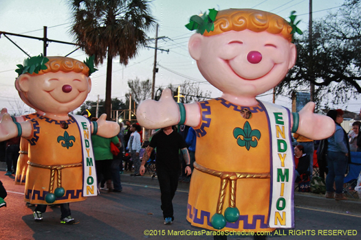 Marching Endymion Men - photo by Jules Richard