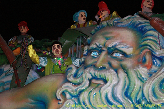 Krewe of Endymion parade, Mardi Gras, New Orleans - photo by Jules Richard